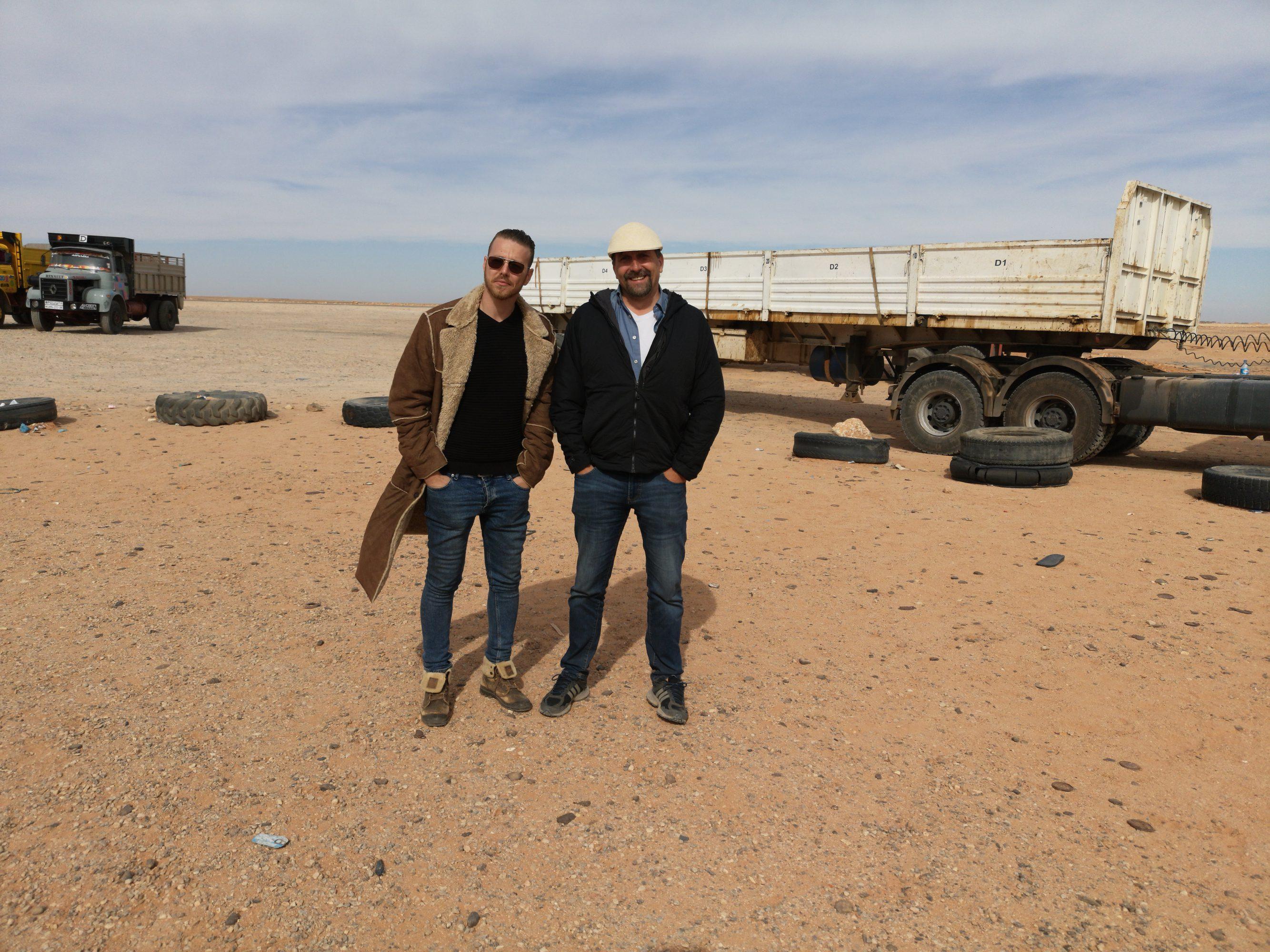 Fares and Lutz (r) - Reporter in Le Grand Sud Algérien
