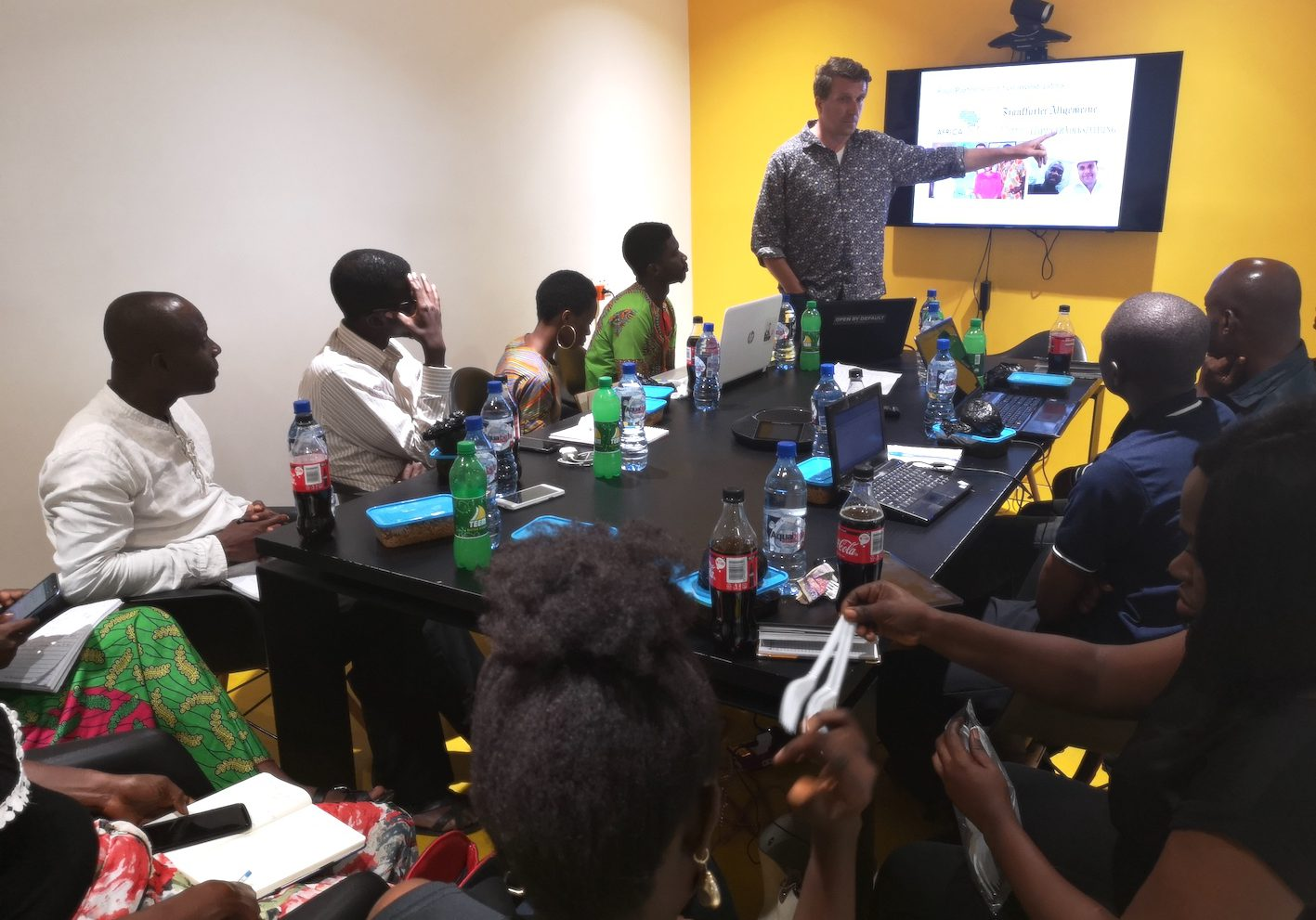 Hacks & Hackers-Journalistentreffen in Lagos, Nigeria (c) Lutz Mükke